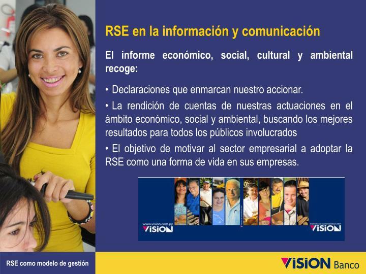 RSE en la información y comunicación