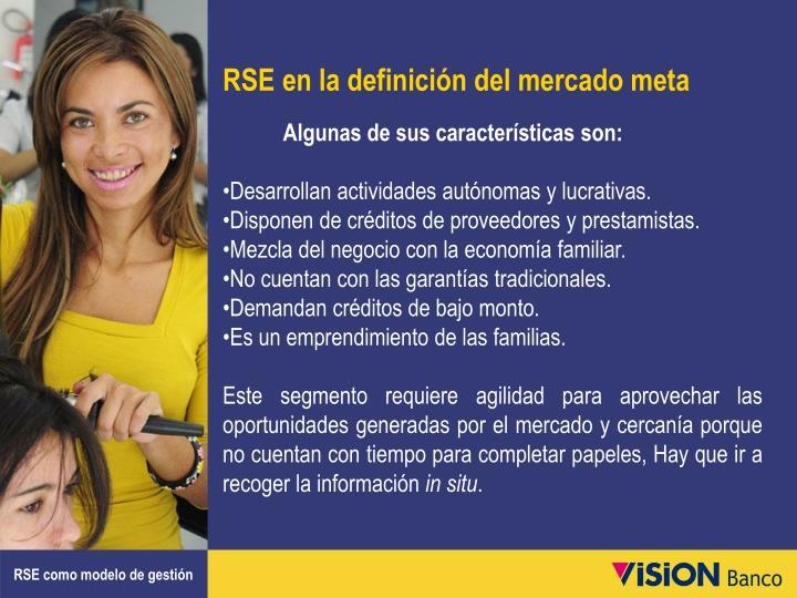 RSE en la definición del mercado meta