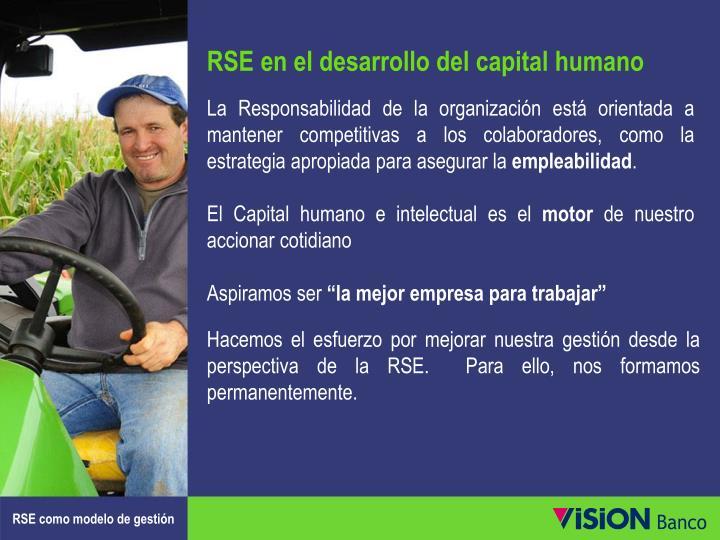 RSE en el desarrollo del capital humano