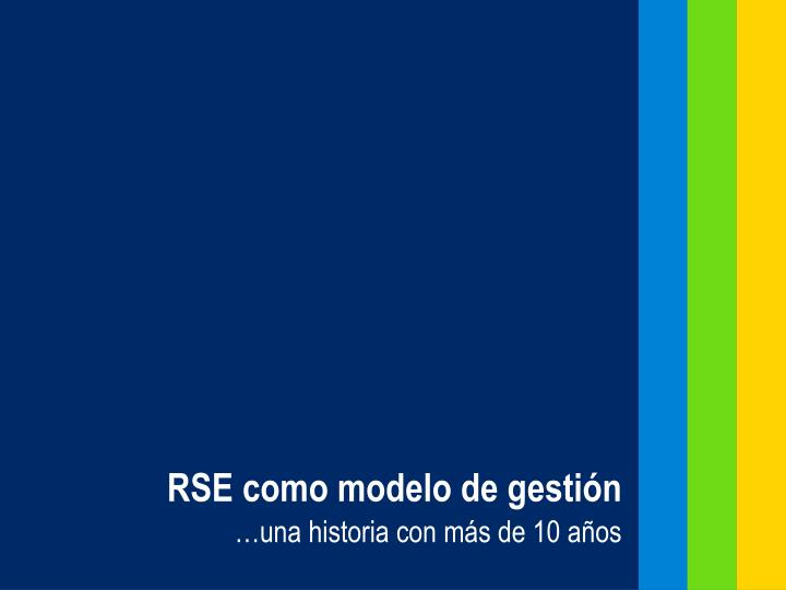 RSE como modelo de gestión