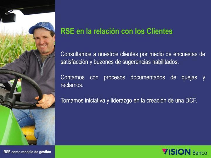 RSE en la relación con los Clientes
