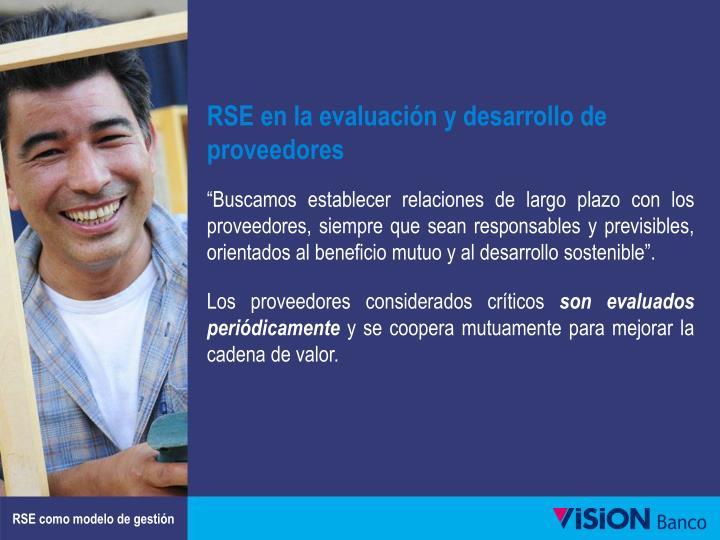 RSE en la evaluación y desarrollo de proveedores