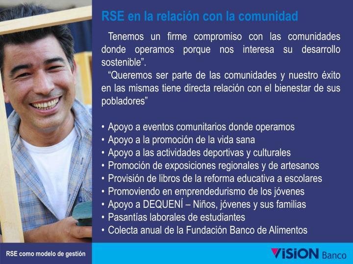RSE en la relación con la comunidad