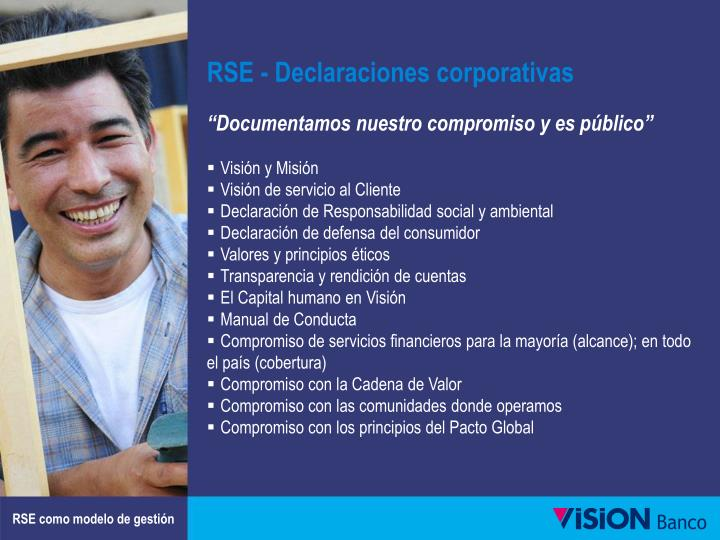 RSE - Declaraciones corporativas