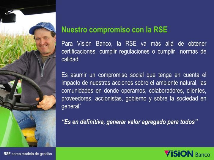 Nuestro compromiso con la RSE