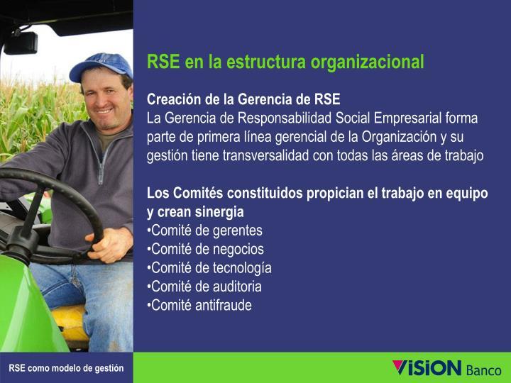RSE en la estructura organizacional