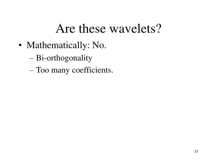Are these wavelets?