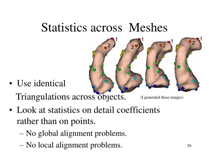 Statistics across  Meshes