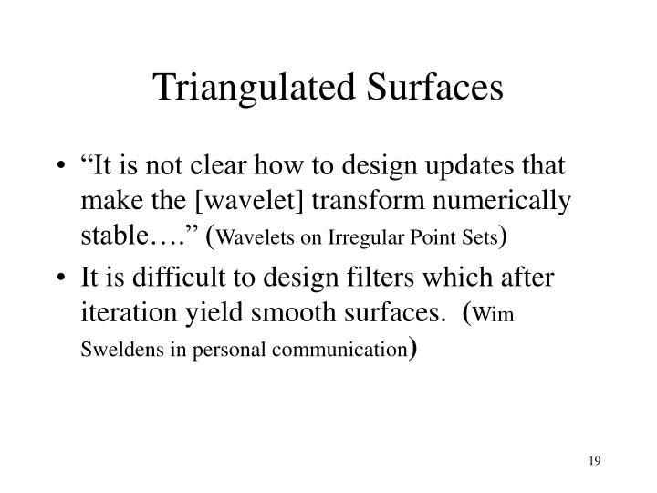 Triangulated Surfaces