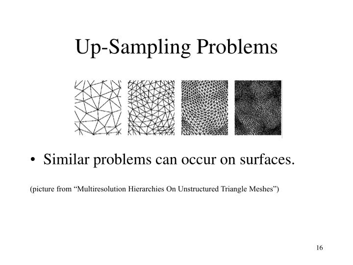 Up-Sampling Problems