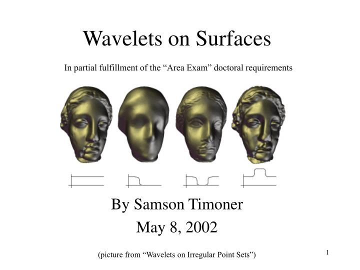 Wavelets on surfaces
