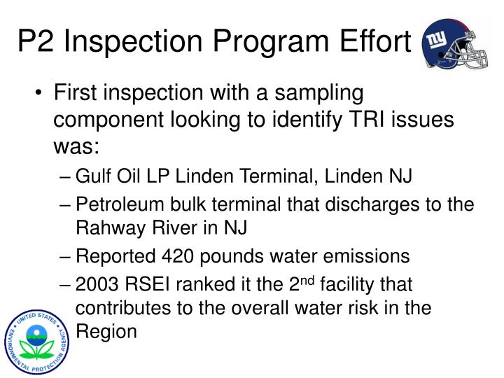 P2 Inspection Program Effort