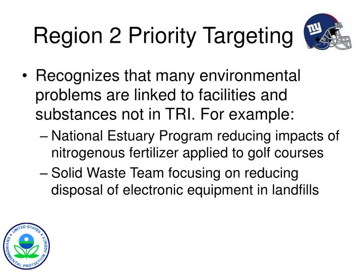 Region 2 priority targeting1