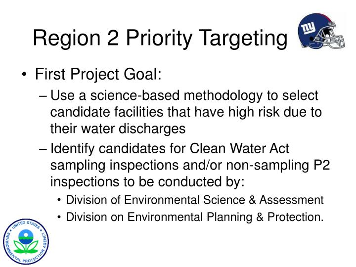 Region 2 Priority Targeting