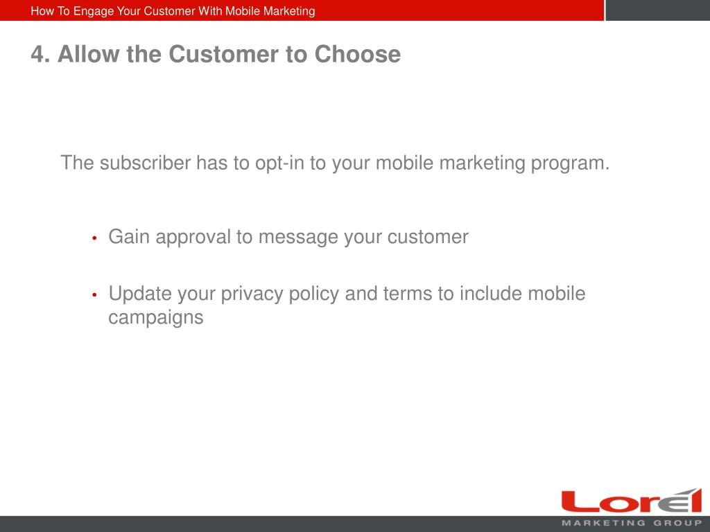 4. Allow the Customer to Choose