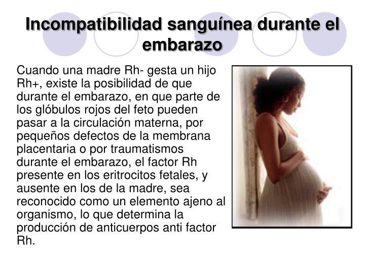 Incompatibilidad sanguínea durante el embarazo