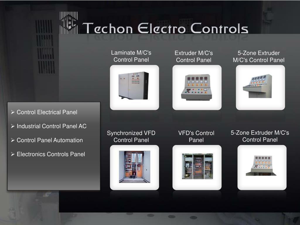 Laminate M/C's Control Panel
