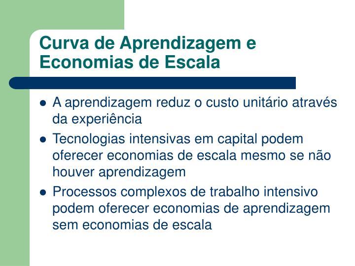 Curva de Aprendizagem e Economias de Escala