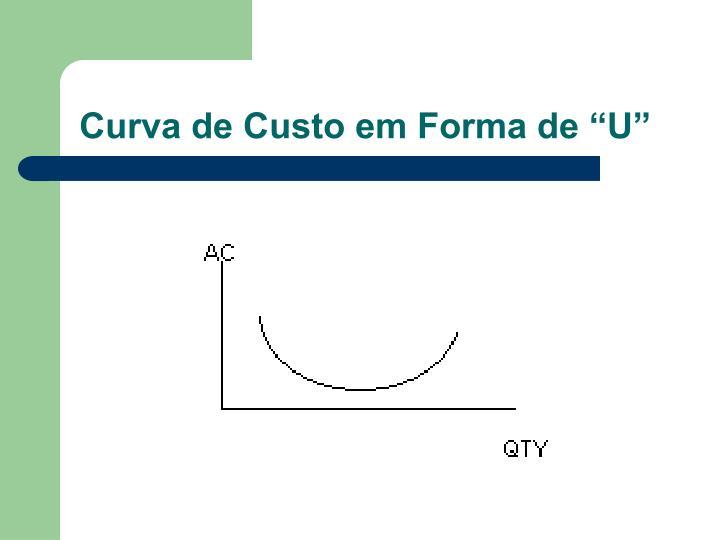 """Curva de Custo em Forma de """"U"""""""