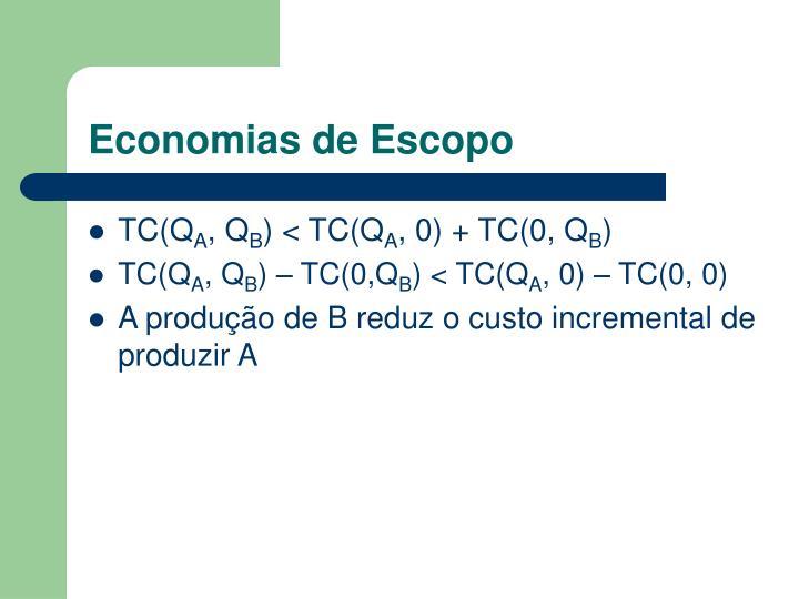 Economias de Escopo