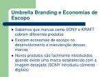umbrella branding e economias de escopo