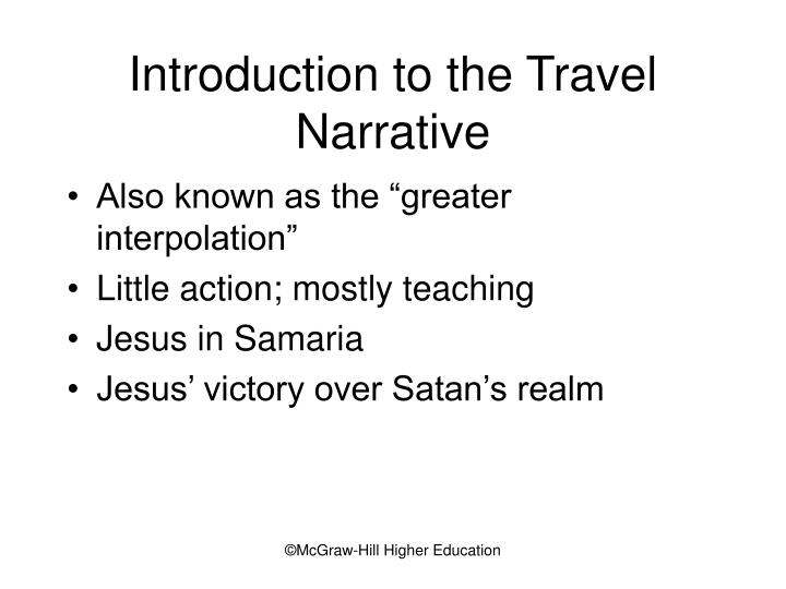 Introduction to the Travel Narrative