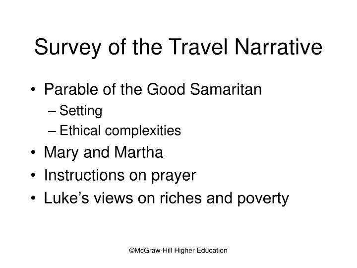 Survey of the Travel Narrative