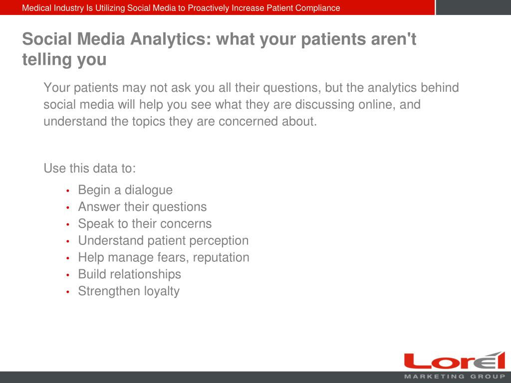 Social Media Analytics: what your patients aren't telling you