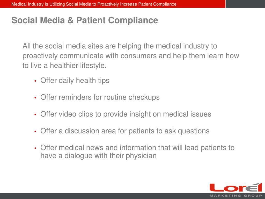 Social Media & Patient Compliance