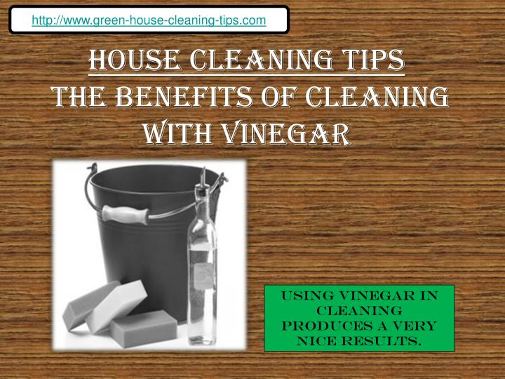 house cleaning with organic products