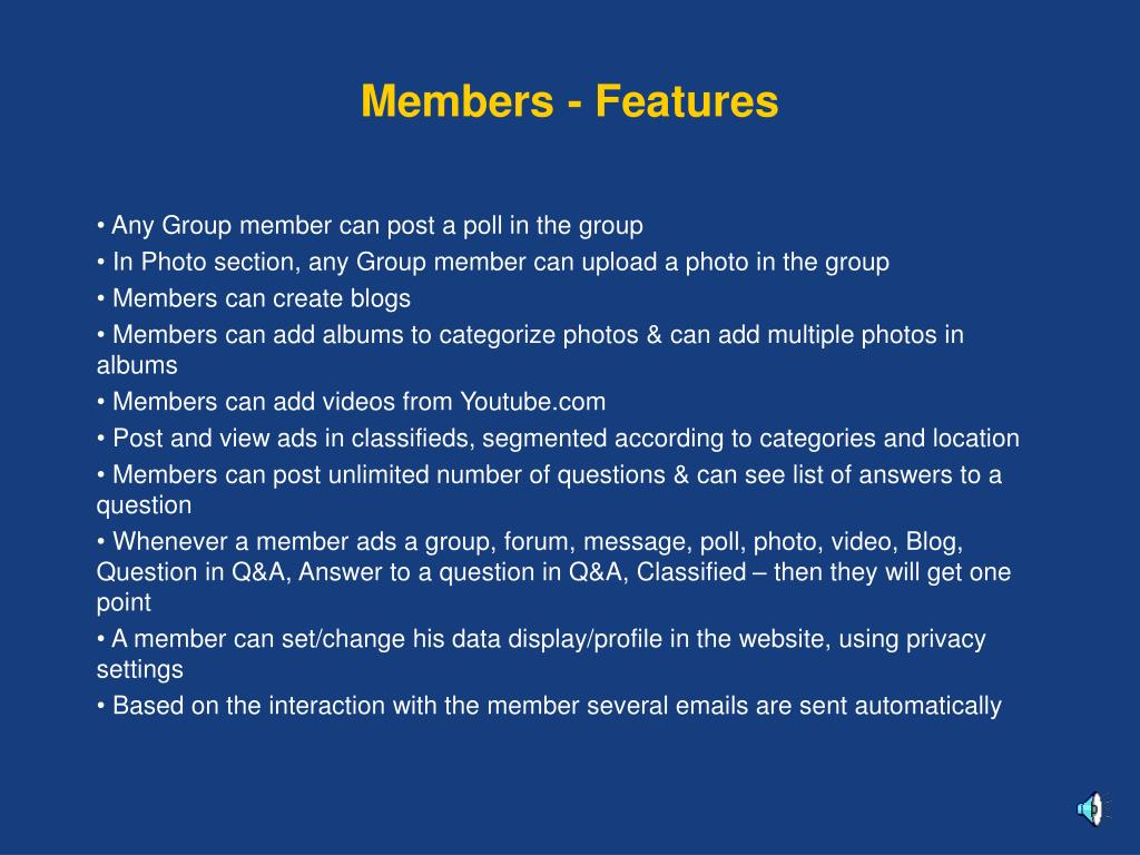 Members - Features