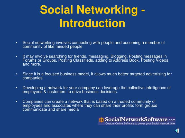 Social networking introduction