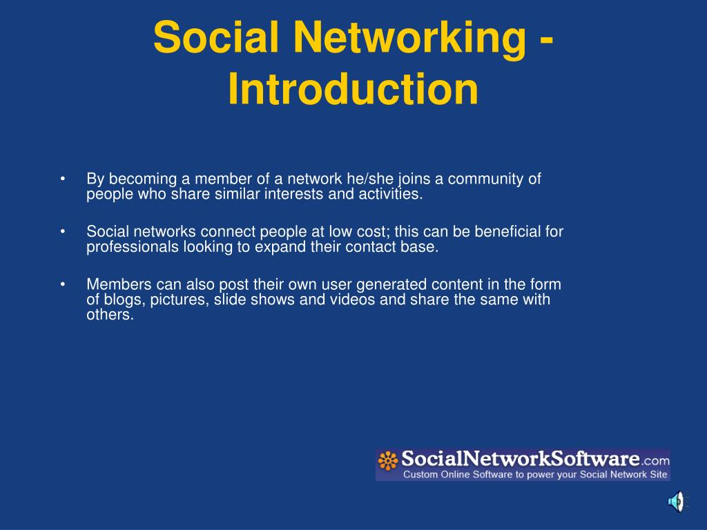 Social Networking -Introduction