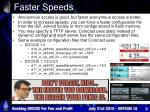 faster speeds