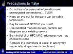 precautions to take