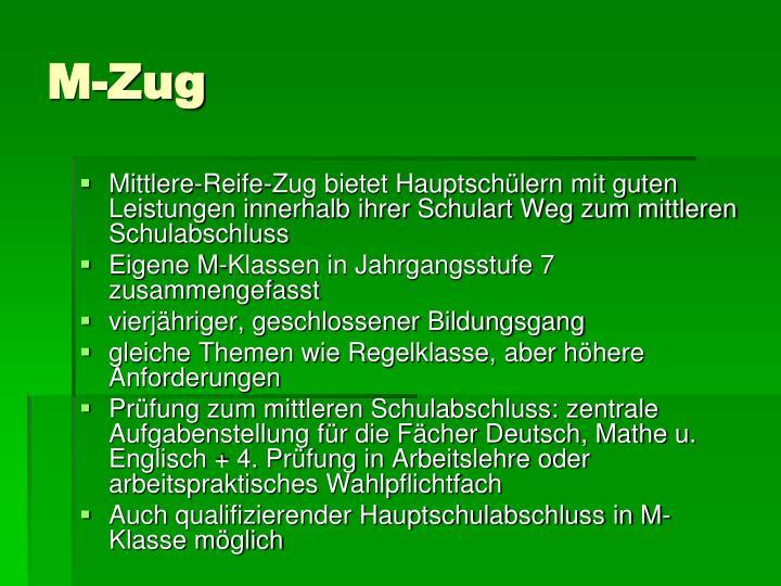 M-Zug