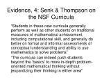 evidence 4 senk thompson on the nsf curricula