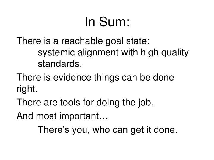 In Sum: