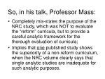 so in his talk professor mass