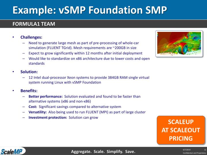 Example: vSMP Foundation SMP