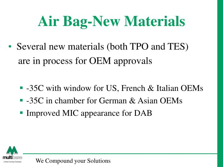 Air Bag-New Materials