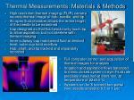 thermal measurements materials methods