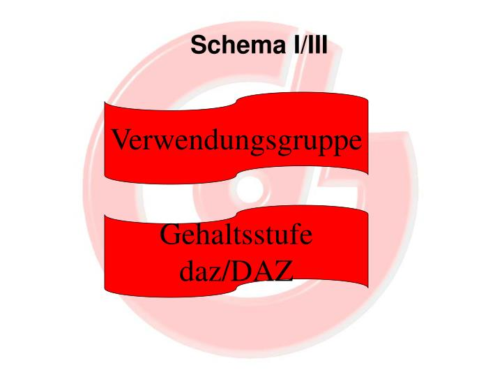 Schema I/III