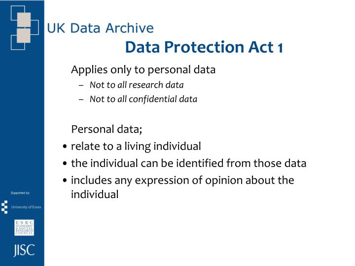 Data Protection Act 1