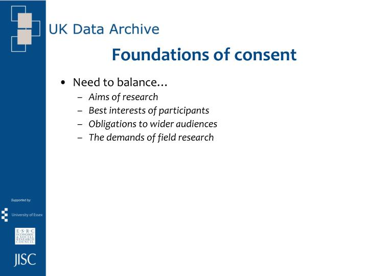 Foundations of consent
