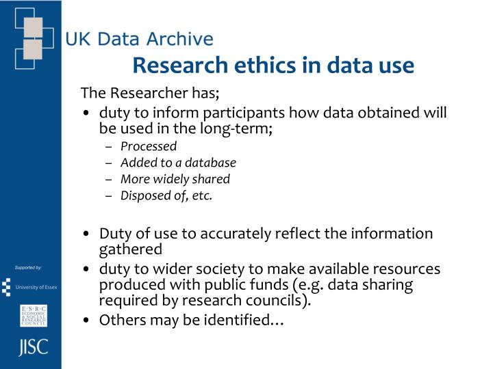 Research ethics in data use
