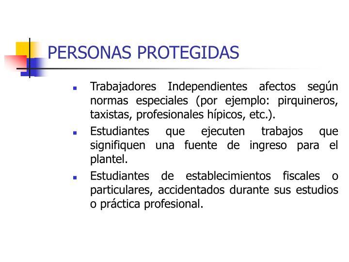 PERSONAS PROTEGIDAS