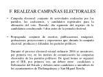 f realizar campa as electorales