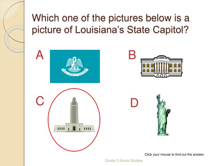 Which one of the pictures below is a picture of Louisiana's State Capitol?