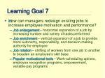 learning goal 7